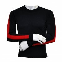Long Sleeve Top Finish-Line black / red Mens